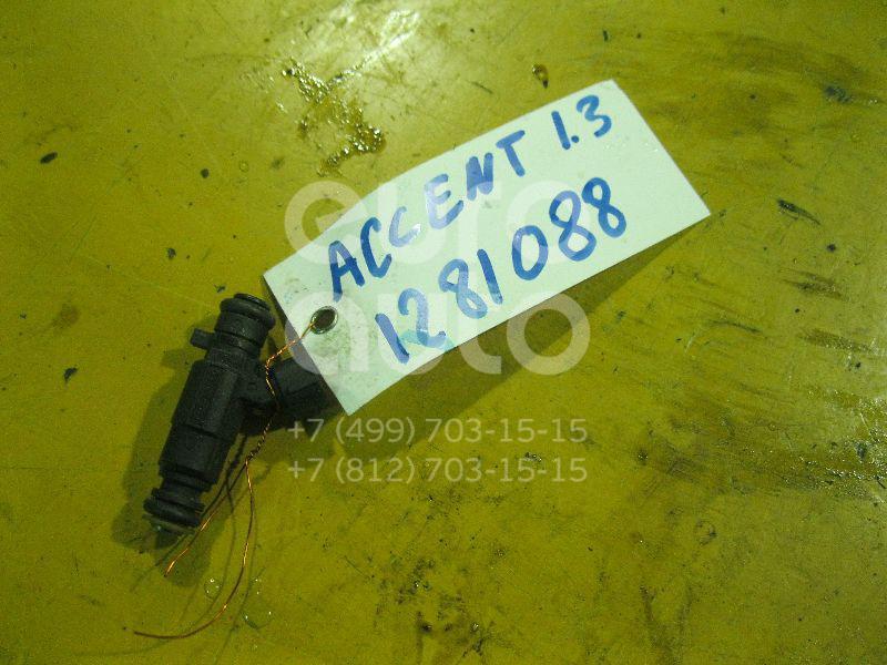 Форсунка инжекторная электрическая для Hyundai Accent II (+ТАГАЗ) 2000-2012;Getz 2002-2010;Elantra 2000-2005;Matrix 2001>;Coupe (GK) 2002>;Cerato 2004-2008 - Фото №1