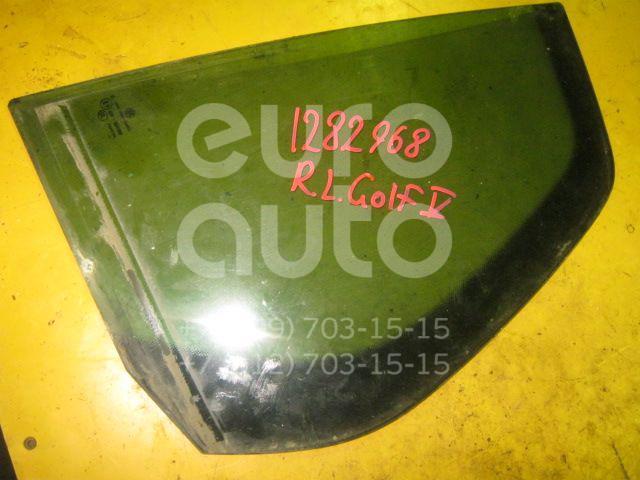 Стекло двери задней левой (форточка) для VW Golf V 2003-2009 - Фото №1
