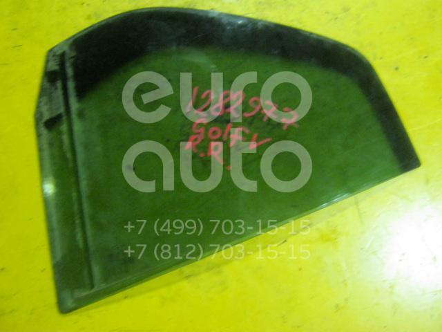 Стекло двери задней правой (форточка) для VW Golf V 2003-2009 - Фото №1