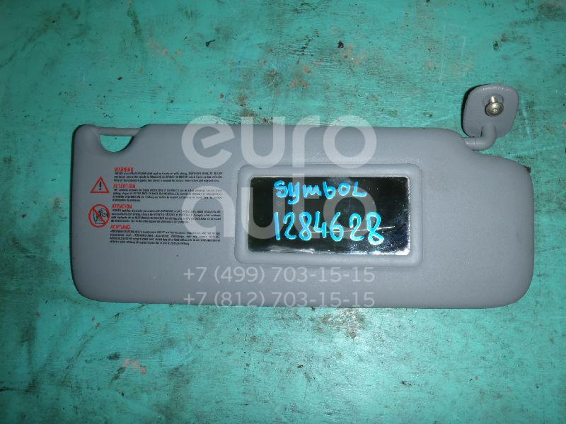 Козырек солнцезащитный (внутри) для Renault Clio II/Symbol 1998-2008 - Фото №1