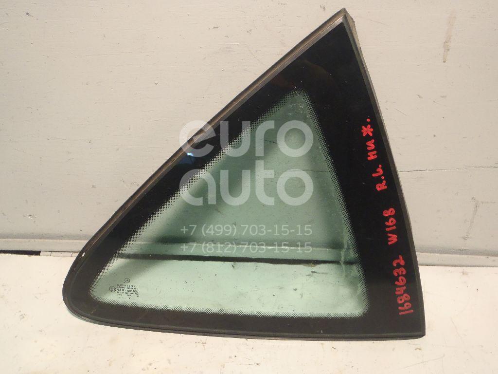 Купить Стекло кузовное глухое левое Mercedes Benz A140/160 W168 1997-2004; (1686700100)