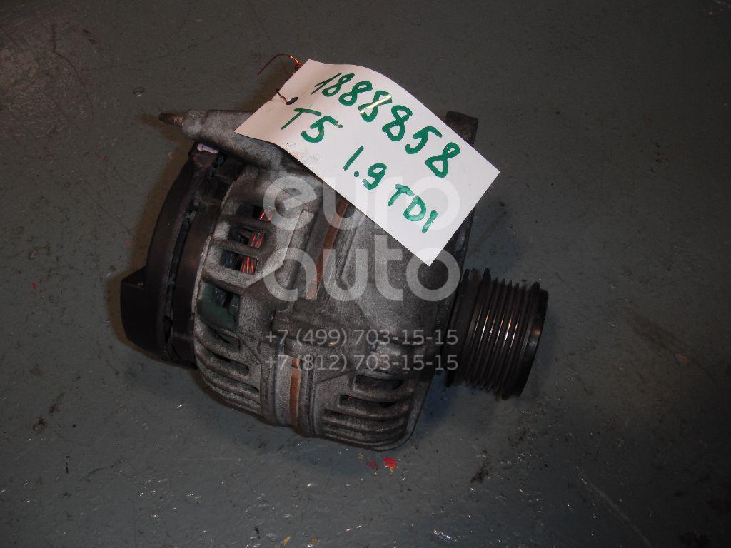 Генератор для VW,Audi,Skoda,Seat Transporter T5 2003-2015;A3 (8L1) 1996-2003;A4 [B5] 1994-2001;TT(8N) 1998-2006;Octavia (A4 1U-) 2000-2011;Leon (1M1) 1999-2006;Toledo II 1999-2006;Octavia 1997-2000;Golf IV/Bora 1997-2005;Polo 1999-2001 - Фото №1