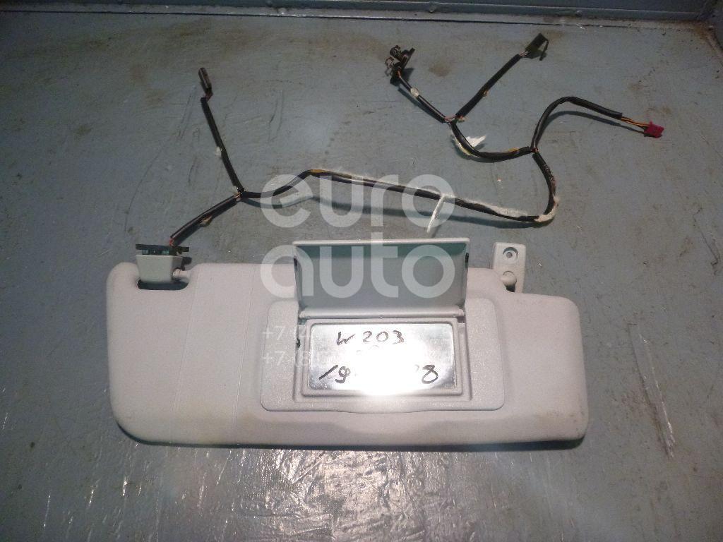 Купить Козырек солнцезащитный (внутри) Mercedes Benz W203 2000-2006; (20381022107D52)