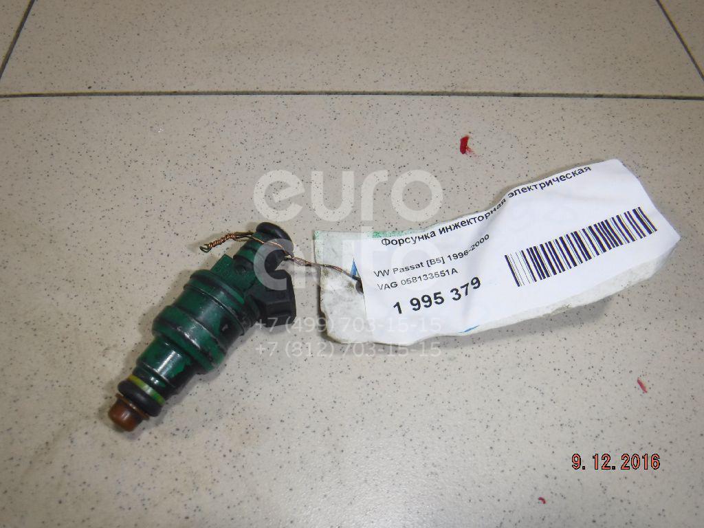 Купить Форсунка инжекторная электрическая VW Passat [B5] 1996-2000; (058133551A)
