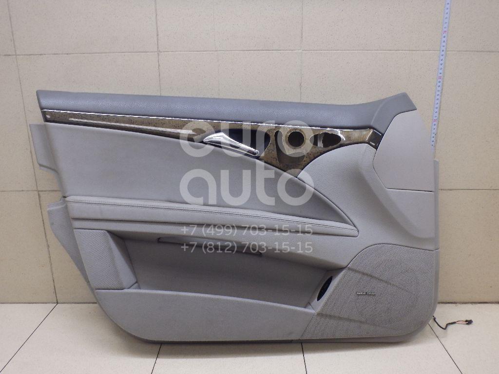 Обшивка двери передней левой Mercedes Benz W211 E-Klasse 2002-2009; (21172059707F65)  - купить со скидкой