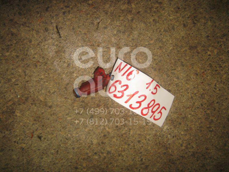 Форсунка инжекторная электрическая для Nissan Almera N16 2000-2006;Primera WP11E 1998-2001;Primera P11E 1996-2002;Almera Tino 2000-2006;Primera P12E 2002-2007 - Фото №1