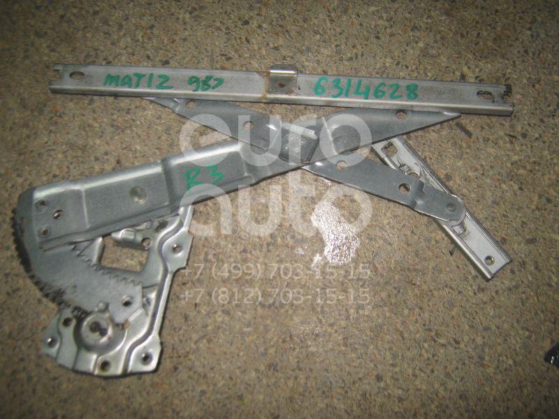 Стеклоподъемник механ. задний правый для Daewoo Matiz 1998-2015 - Фото №1