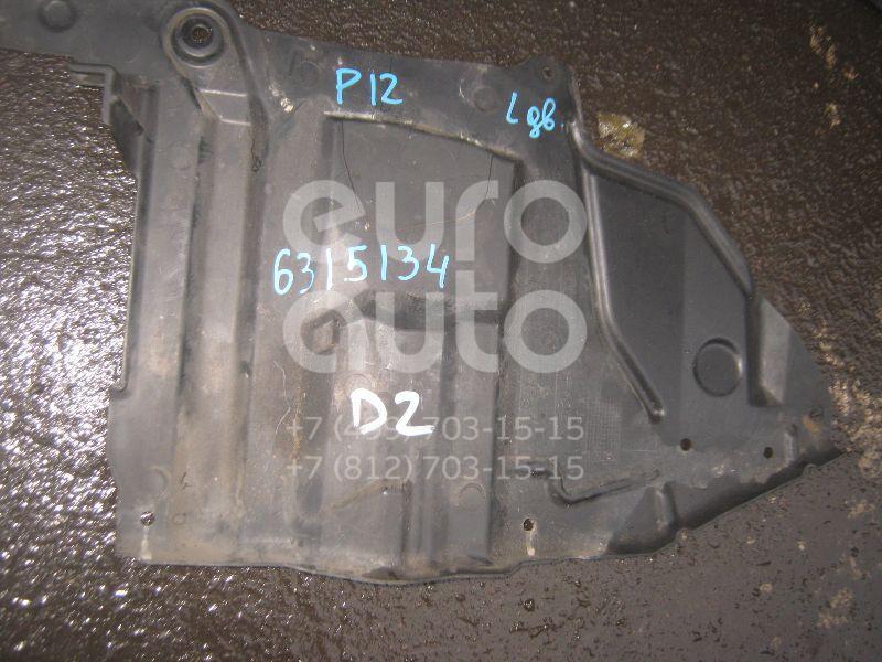 Пыльник двигателя боковой левый для Nissan Primera P12E 2002-2007 - Фото №1