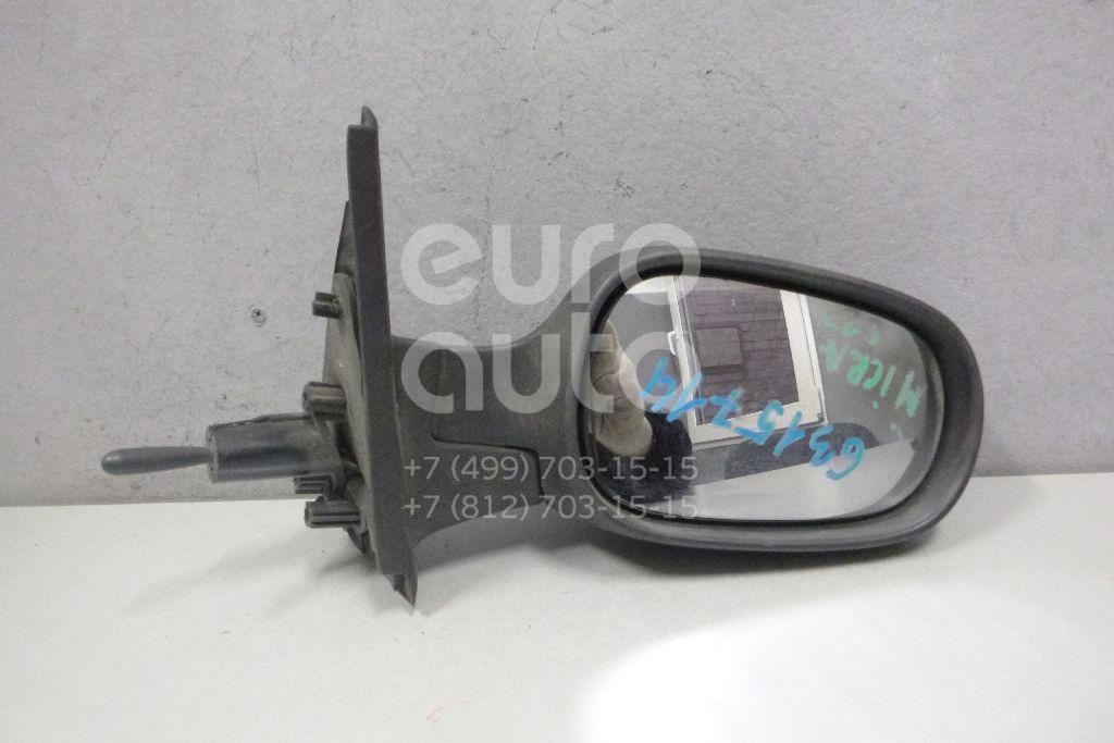 Зеркало правое механическое для Nissan Micra (K12E) 2002-2010 - Фото №1