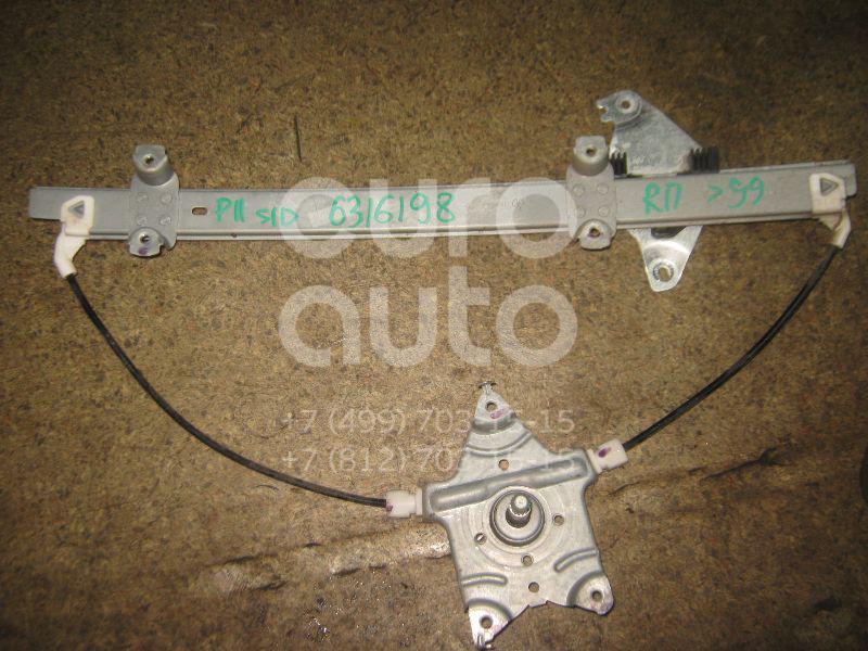 Стеклоподъемник механ. передний правый для Nissan Primera P11E 1996-2002 - Фото №1