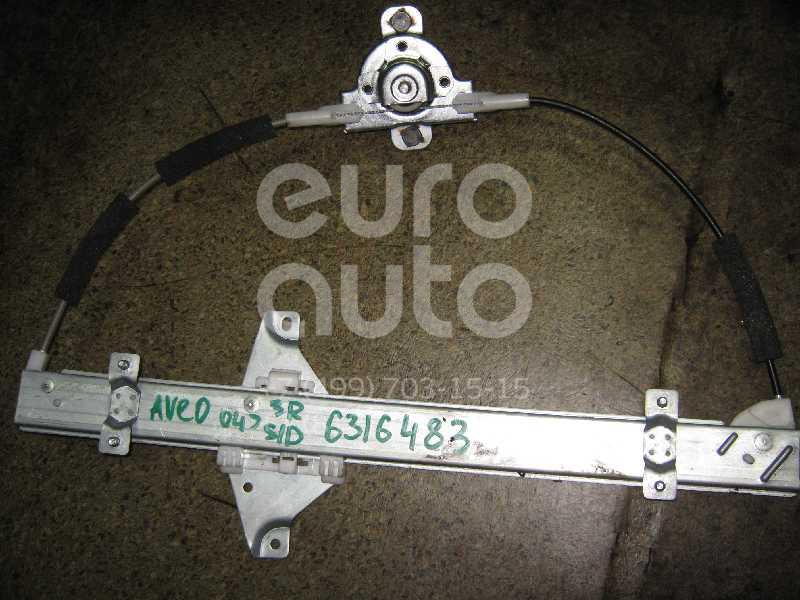 Стеклоподъемник механ. задний правый для Chevrolet Aveo (T200) 2003-2008 - Фото №1