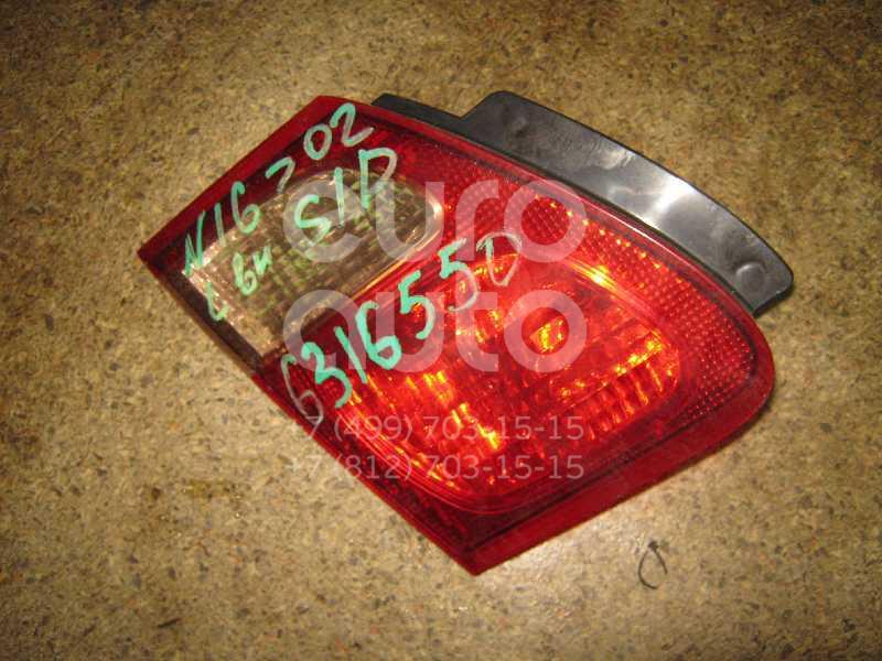Фонарь задний внутренний левый для Nissan Almera N16 2000-2006 - Фото №1