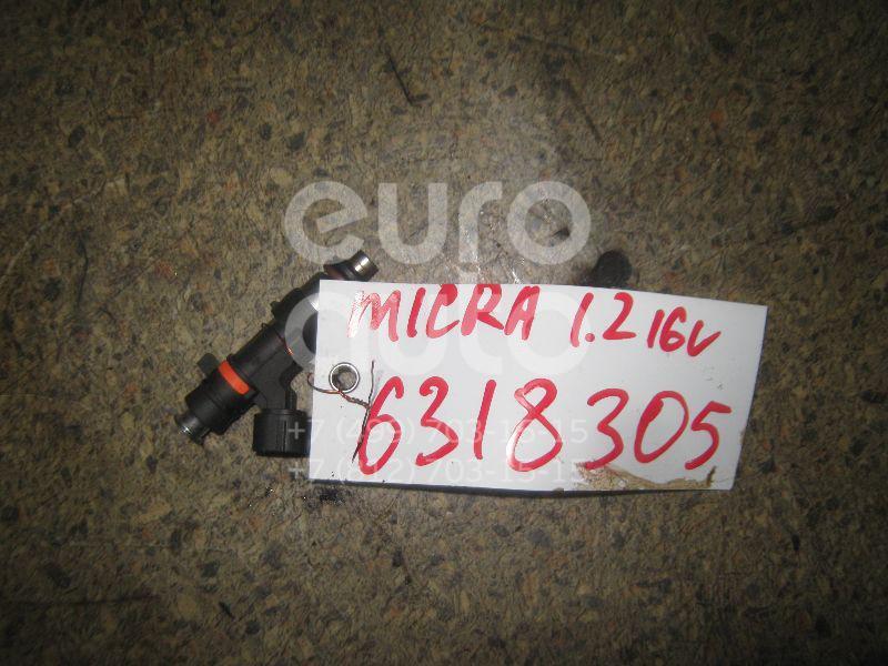 Форсунка инжекторная электрическая для Nissan Micra (K12E) 2002-2010;Note (E11) 2006-2013 - Фото №1