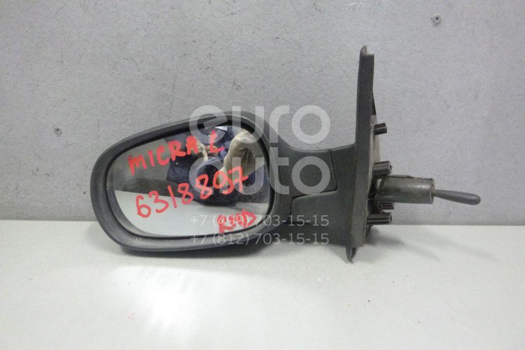 Зеркало левое механическое для Nissan Micra (K12E) 2002> - Фото №1