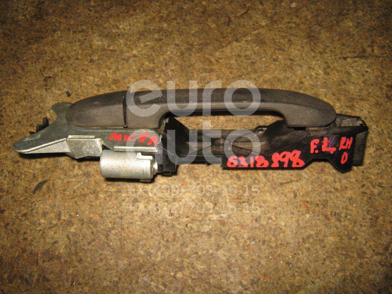 Ручка двери передней наружная левая для Nissan Micra (K12E) 2002-2010 - Фото №1