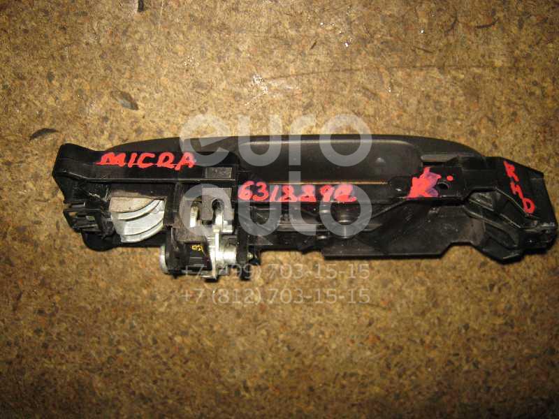 Ручка двери передней наружная правая для Nissan Micra (K12E) 2002> - Фото №1