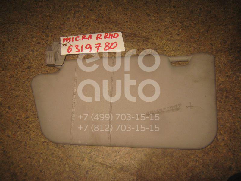 Козырек солнцезащитный (внутри) для Nissan Micra (K12E) 2002> - Фото №1