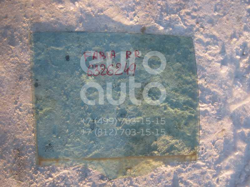 Стекло двери задней правой для Skoda Fabia 1999-2006 - Фото №1
