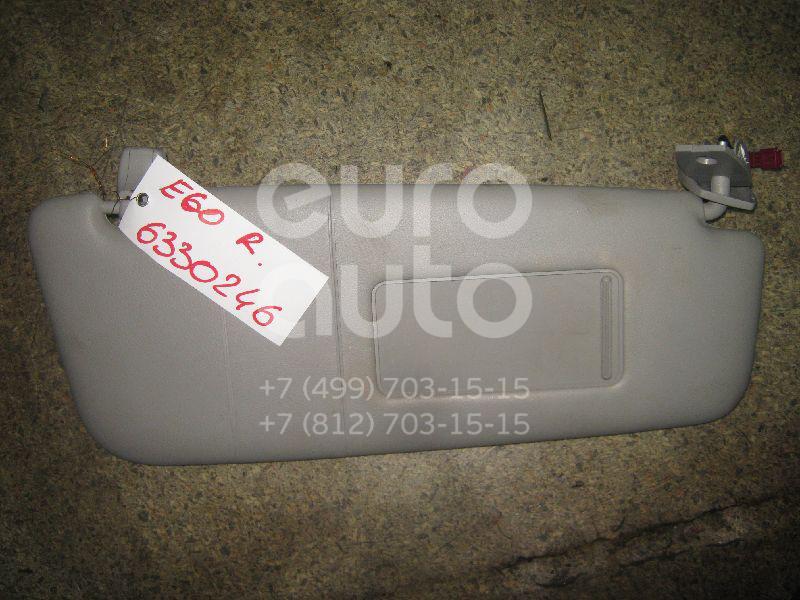 Козырек солнцезащитный (внутри) для BMW 5-серия E60/E61 2003-2009 - Фото №1