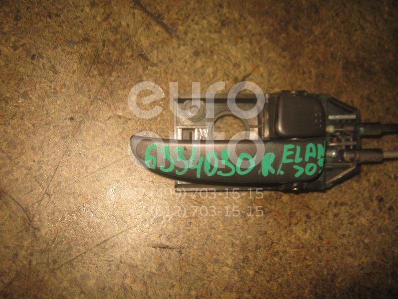 Ручка двери внутренняя правая для Hyundai Elantra 2000-2006 - Фото №1