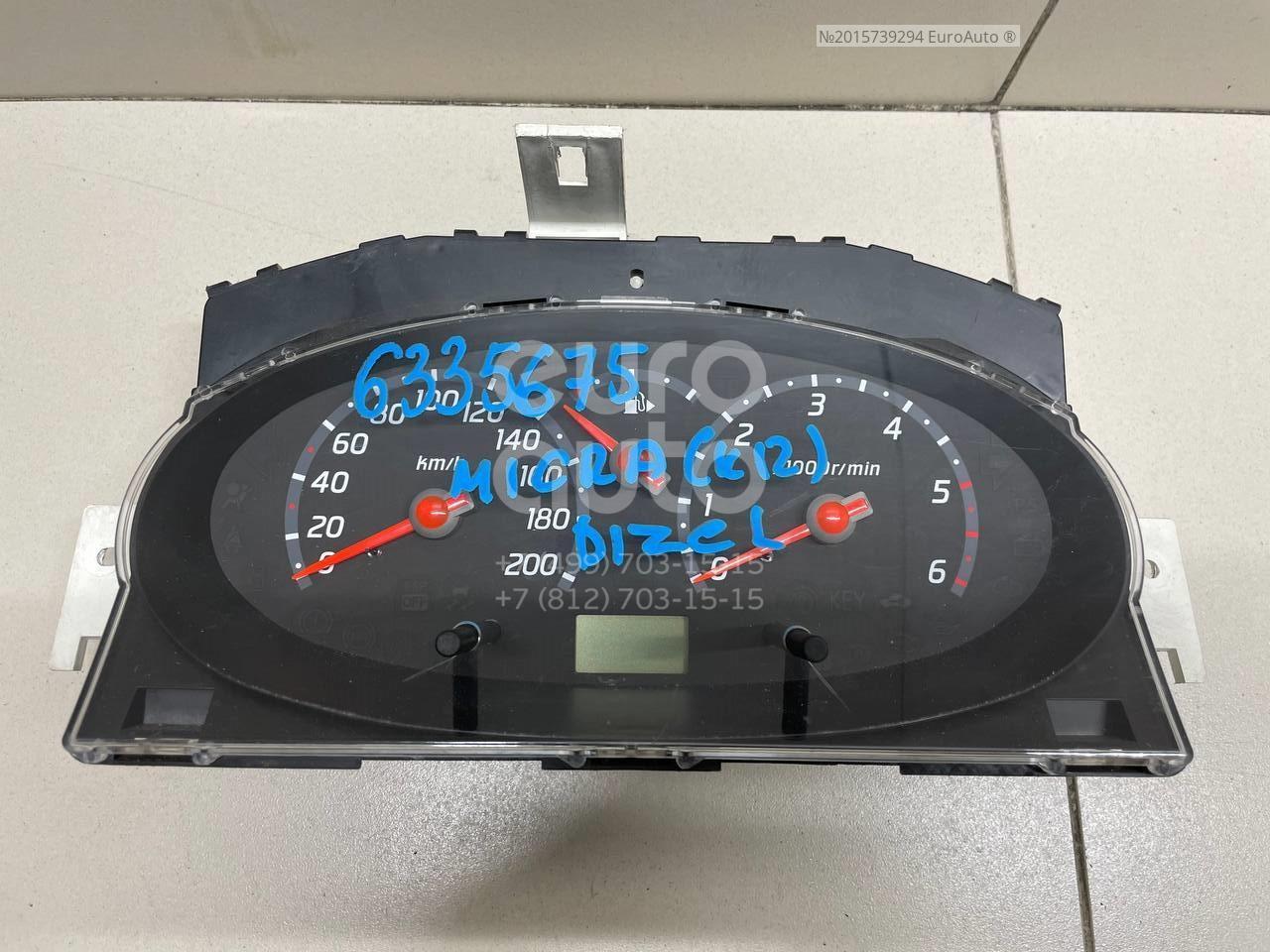 Панель приборов для Nissan Micra (K12E) 2002-2010 - Фото №1