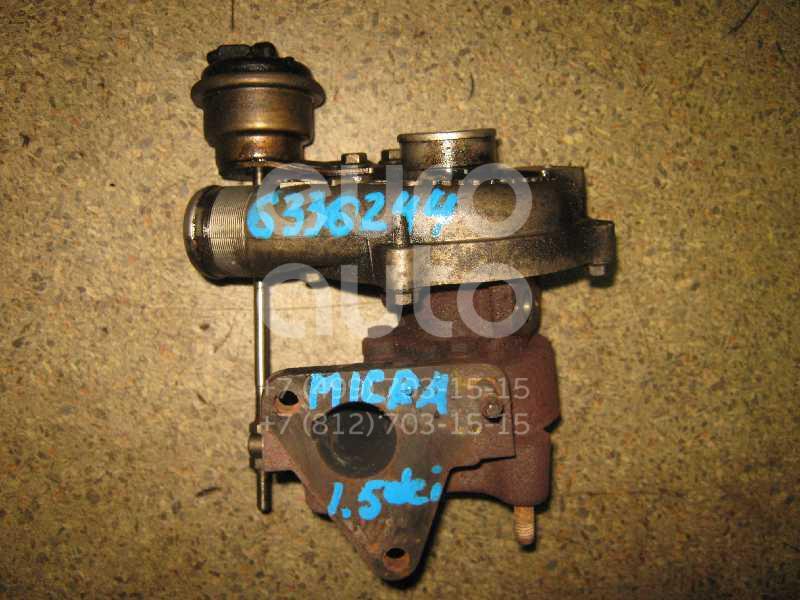Турбокомпрессор (турбина) для Nissan Micra (K12E) 2002>;Kangoo 2003-2007 - Фото №1