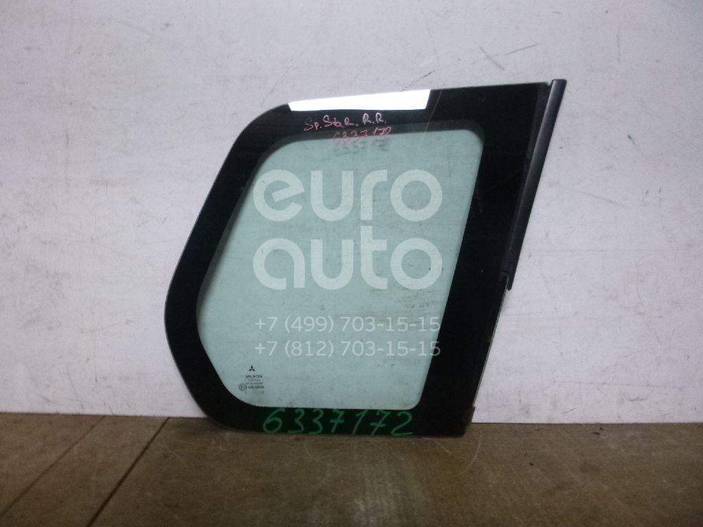 Стекло кузовное глухое правое для Mitsubishi Space Star 1998-2004 - Фото №1