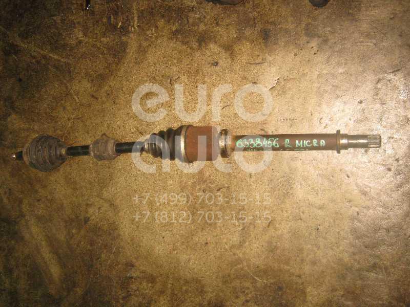 Полуось передняя правая для Nissan Micra (K12E) 2002-2010 - Фото №1