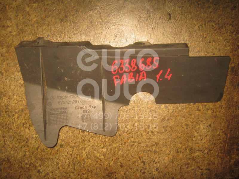 Воздуховод радиатора левый для Skoda Fabia 1999-2006 - Фото №1