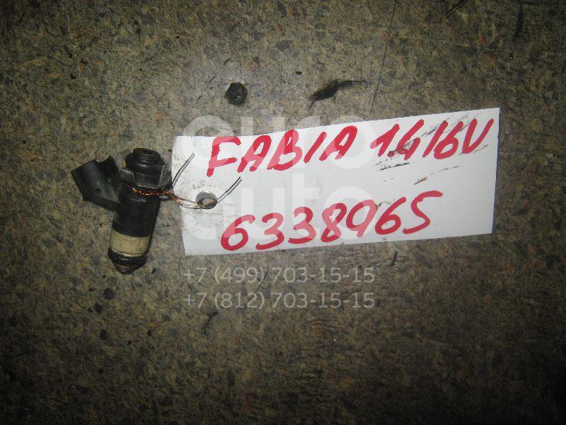 Форсунка инжекторная электрическая для Seat Fabia 1999-2006;A2 [8Z0] 2000-2005;Polo 2001-2009;Ibiza IV 2002-2008 - Фото №1
