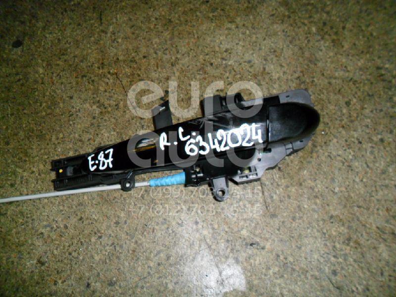 Ручка двери задней наружная левая для BMW 1-серия E87/E81 2004-2011 - Фото №1