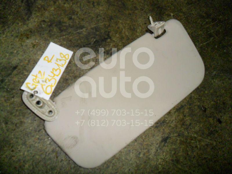 Козырек солнцезащитный (внутри) для Hyundai Getz 2002-2010 - Фото №1