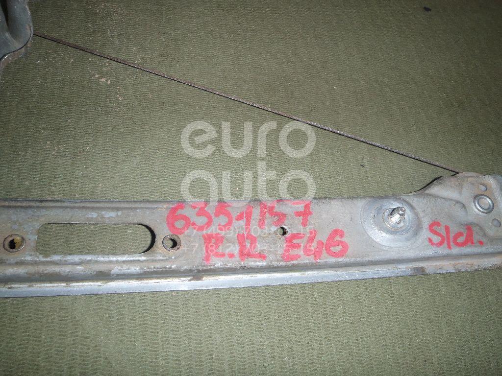 Стеклоподъемник механ. задний правый для BMW 3-серия E46 1998-2005 - Фото №1