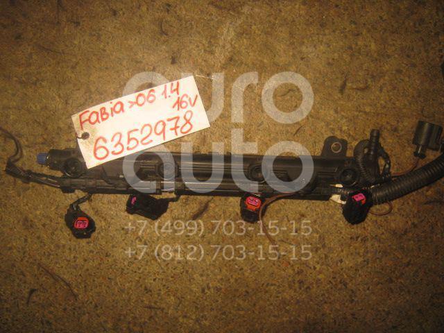Рейка топливная (рампа) для Skoda,VW Fabia 1999-2006;Polo 2001-2009;Golf V 2003-2009;Roomster 2006-2015;Polo (Sed RUS) 2011> - Фото №1