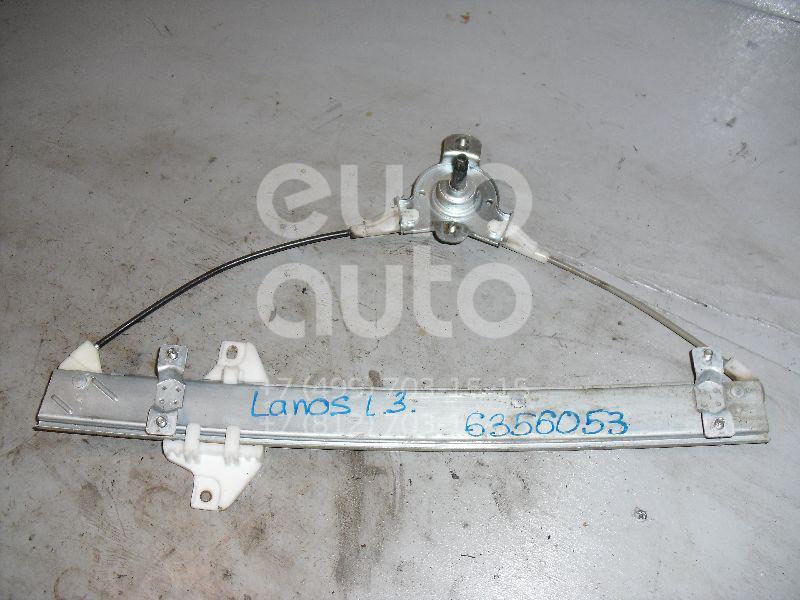 Стеклоподъемник механ. задний левый для Chevrolet,Daewoo Lanos 2004>;Lanos 1997-2009 - Фото №1