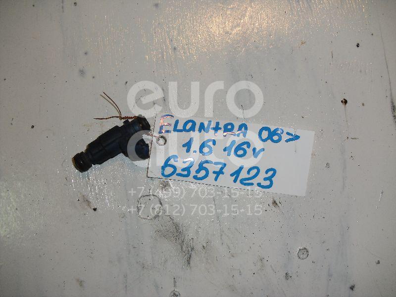 Форсунка инжекторная электрическая для Kia Elantra 2006-2011;Cerato 2004-2008;Ceed 2007- 2012;i30 2007-2012;Soul 2009-2014;i20 2008>;Cerato 2009-2013;Carens 2006-2012;Solaris/Accent IV 2010>;Venga 2010> - Фото №1