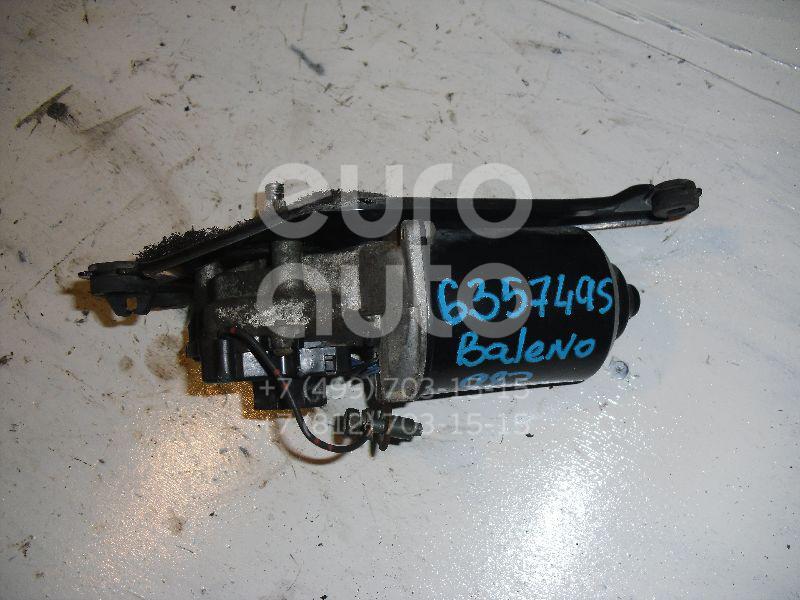 Моторчик стеклоочистителя передний для Suzuki Baleno 1998-2007;Baleno 1995-1998 - Фото №1
