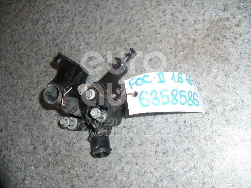 Фланец двигателя системы охлаждения для Ford Focus II 2008-2011;Focus II 2005-2008;Fusion 2002-2012;C-MAX 2003-2011;Focus I 1998-2005;Fiesta 2001-2008;Mondeo IV 2007-2015;Fiesta 2008> - Фото №1