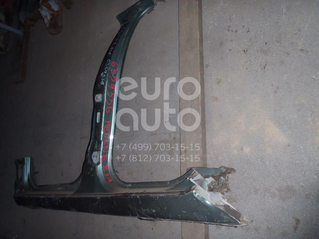 Порог со стойкой левый для Renault Megane II 2002-2009 - Фото №1