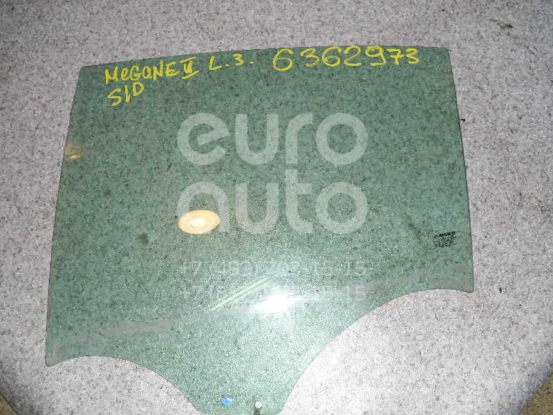 Стекло двери задней левой для Renault Megane II 2003-2009 - Фото №1