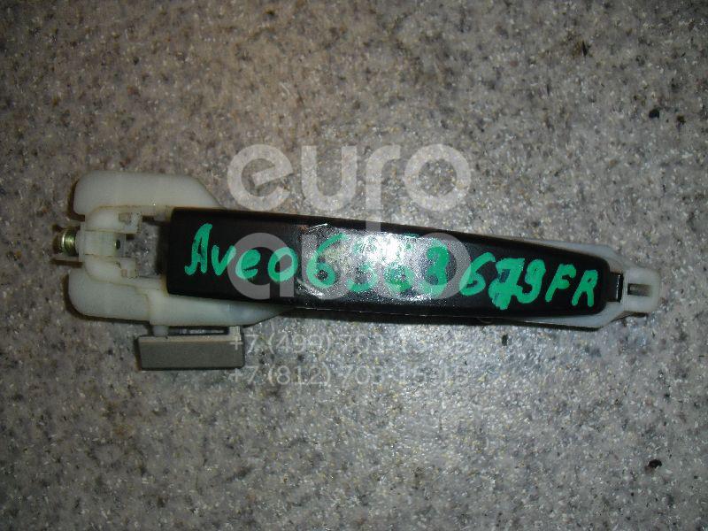 Ручка двери передней наружная правая для Chevrolet Aveo (T250) 2005-2011 - Фото №1
