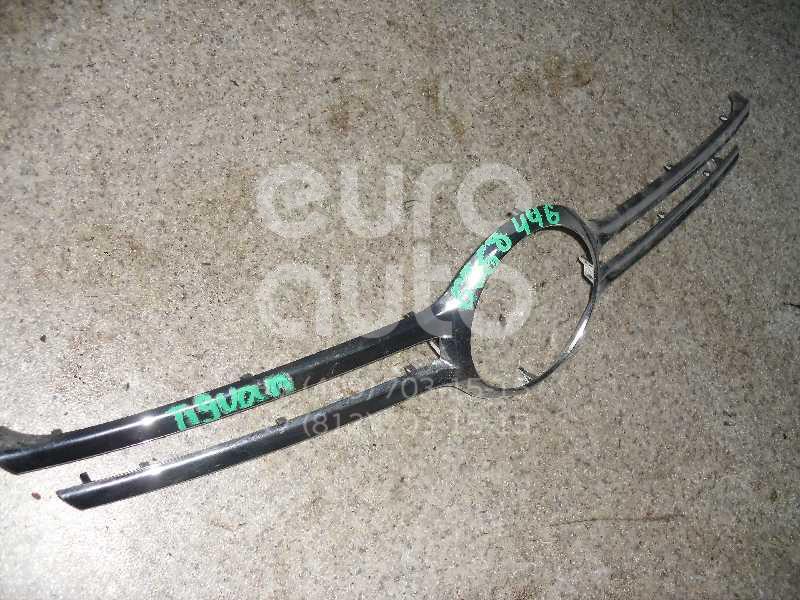 Накладка на решетку радиатора для VW Tiguan 2007-2011 - Фото №1