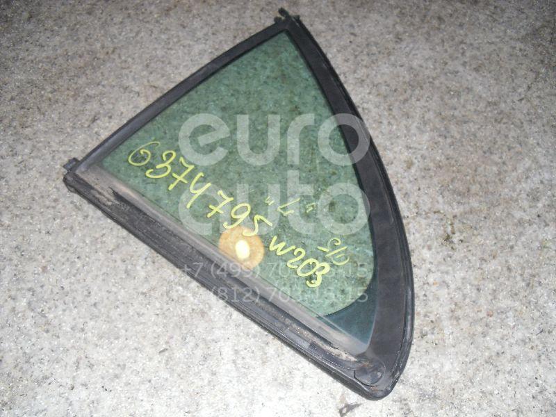 Стекло двери задней левой (форточка) для Mercedes Benz W203 2000-2006 - Фото №1