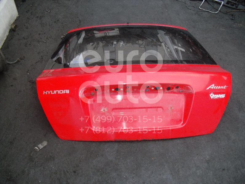 Дверь багажника со стеклом для Hyundai Accent II (+ТАГАЗ) 2000-2012 - Фото №1