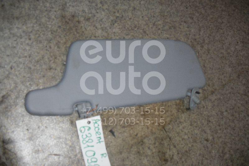 Козырек солнцезащитный (внутри) для Hyundai Accent II (+ТАГАЗ) 2000-2012 - Фото №1