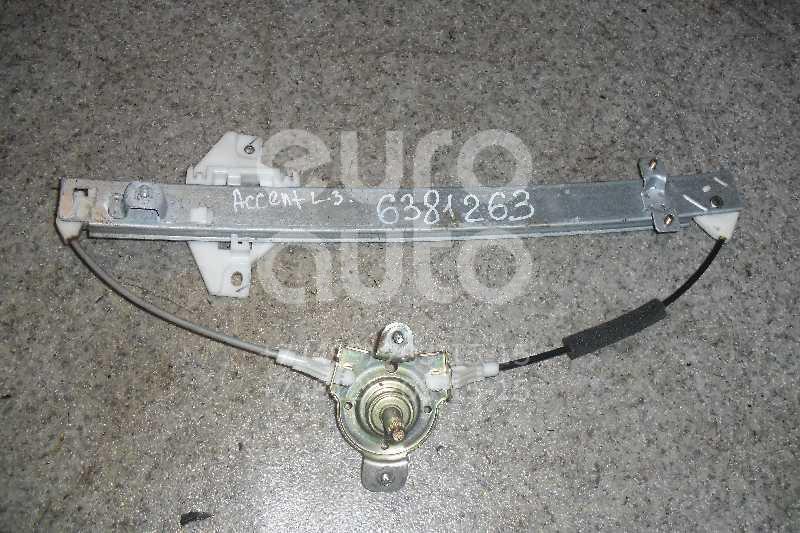 Стеклоподъемник механ. задний левый для Hyundai Accent II (+ТАГАЗ) 2000-2012 - Фото №1