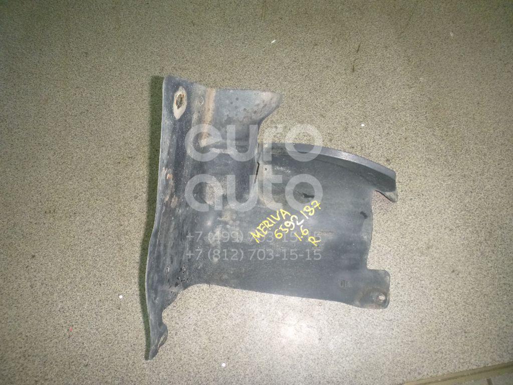 Пыльник двигателя боковой правый Opel Meriva 2003-2010; (13114571)