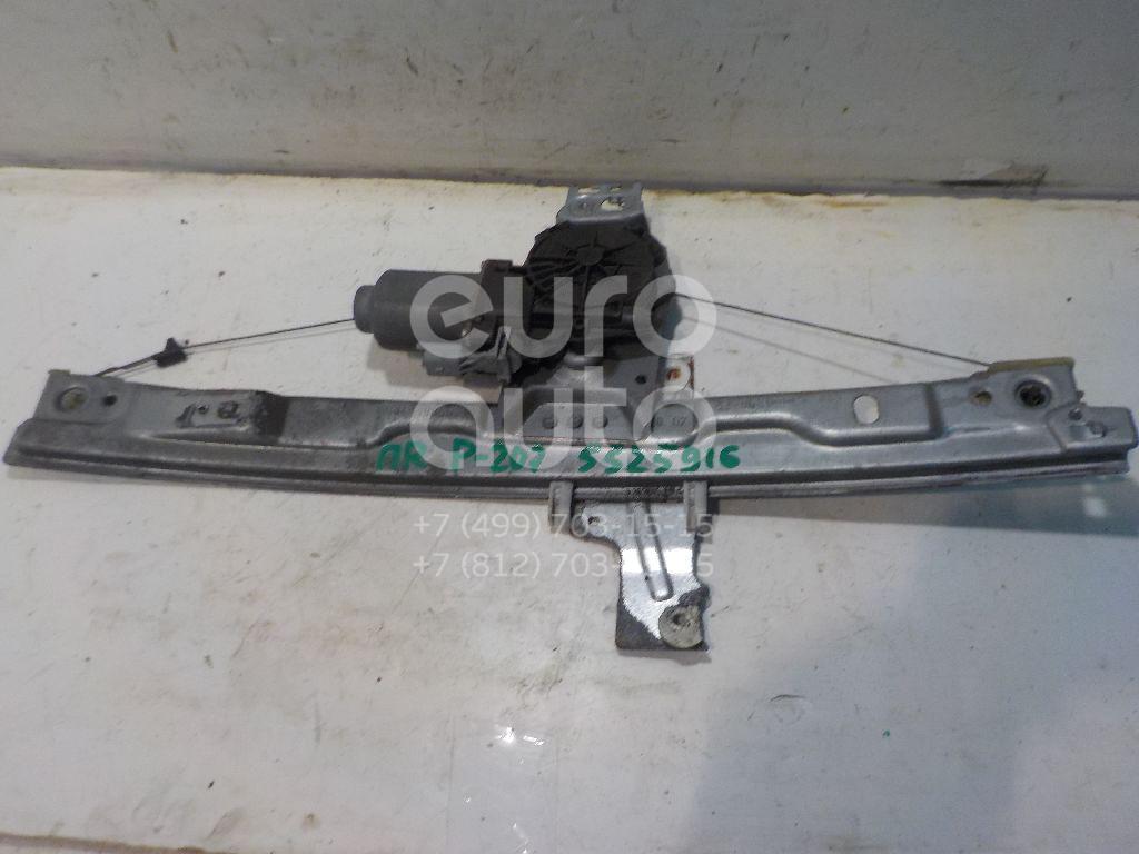 Стеклоподъемник электр. передний правый для Peugeot 207 2006> - Фото №1