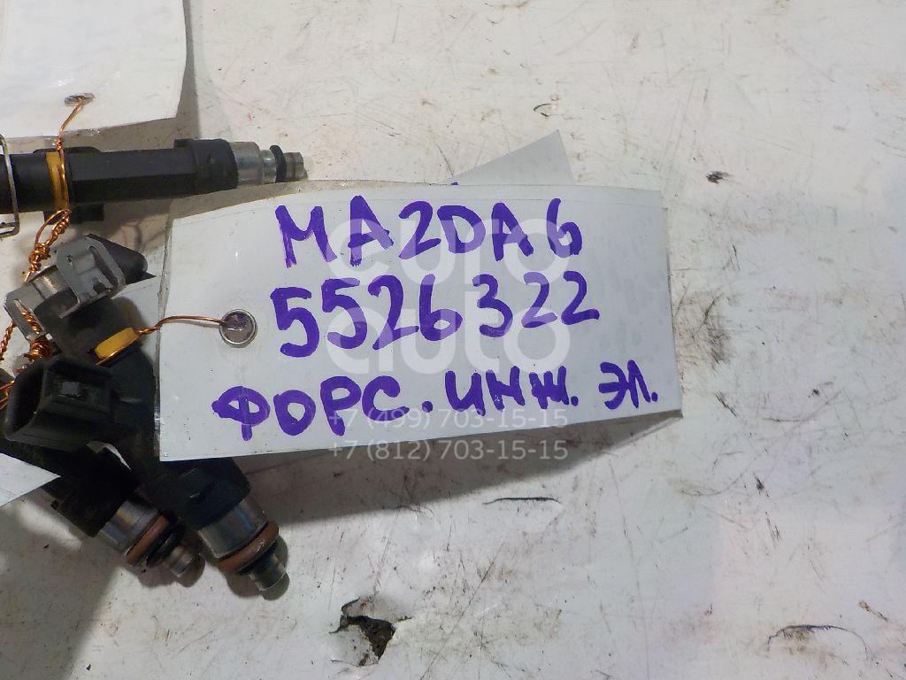 Форсунка инжекторная электрическая для Mazda Mazda 6 (GG) 2002-2007;Mazda 3 (BK) 2002-2009;MX-5 III (NC) 2005-2015;Mazda 6 (GH) 2007-2012 - Фото №1