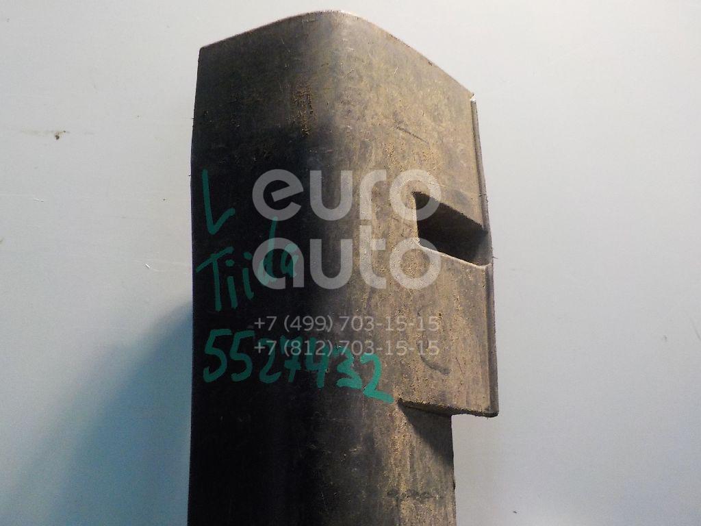 Накладка на порог (наружная) для Nissan Tiida (C11) 2007> - Фото №1